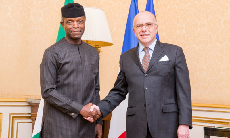 HEVP TO THE PRIME MINISTER OF FRANCE, 30TH MARCH, 2017. PHOTO: NOVO ISIORO