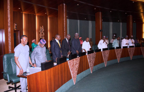 Cross Section of Ministers during the Federal Executive council Meeting held at the Council Chamber of the State House in Abuja. PHOTO; SUNDAY AGHAEZE. MAR22 2017