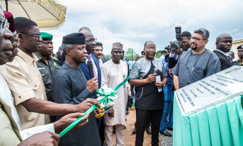 Vice President Osinbajo commissions cement and fertilizer plants in Edo State
