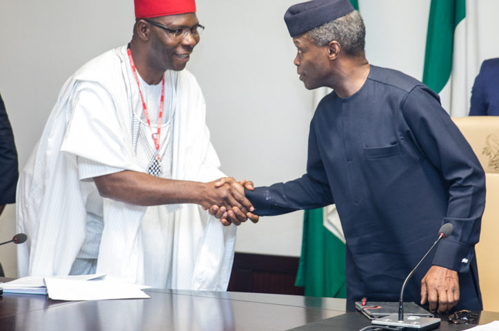 Vice President Yemi Osinbajo, SAN, meets with the Presidential Ad-hoc Committee
