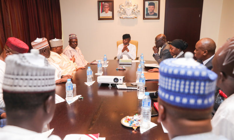 Vice President meeting with the NASS Joint Committee on Interior (briefing on upcoming fire conference) on a courtesy visit to State House, Abuja. 18th October 2017. PHOTOS: NOVO ISIORO
