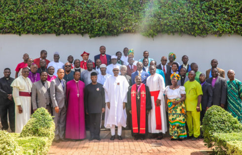 PRESIDENT BUHARI AND HIS DEPUTY, VICE PRESIDENT OSINBAJO WITH LEADERS OF CHRISTIAN FAITHFUL, SH, 10TH NOV, 2017