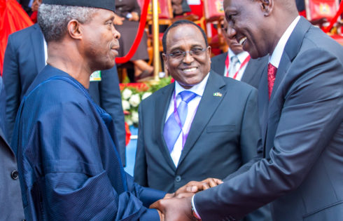 VICE PRESIDENT YEMI OSINBAJO, SAN, ATTENDS PRESIDENT UHURU KENYATTA'S 2ND TERM INAUGURATION IN NAIROBI TODAY