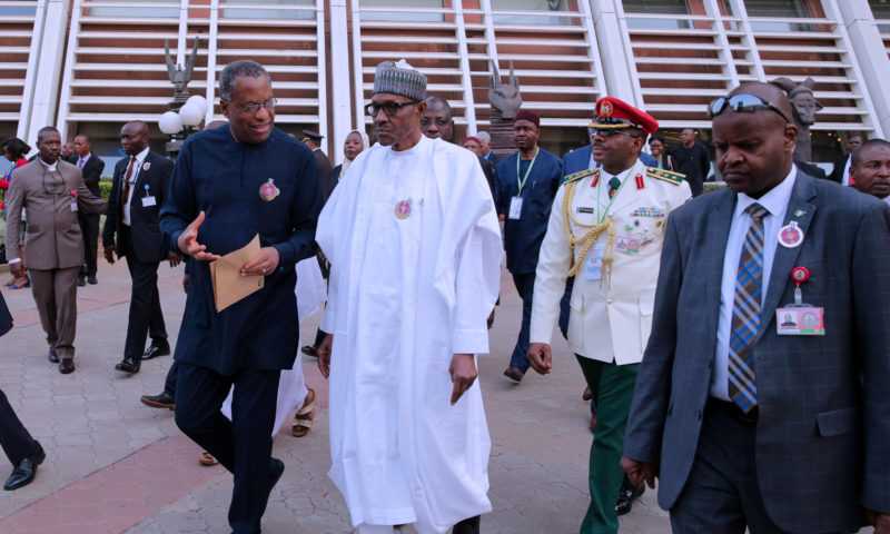 PRESIDENT BUHARI ATTENDS 52nd ECOWAS HEADS OF STATE SUMMIT. DEC 16 2017