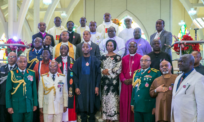 VICE PRESIDENT YEMI OSINBAJO, SAN, WITH OTHER MINISTERS, MEMBERS OF NATIONAL ASSEMBLY AND SERVICE CHIEFS THIS EVENING ATTENDS 2018 ARMED FORCES REMEMBRANCE DAY CELEBRATION WHICH TOOK PLACE AT THE NATIONAL CHRISTIAN CENTER IN ABUJA. 7TH JANUARY 2018