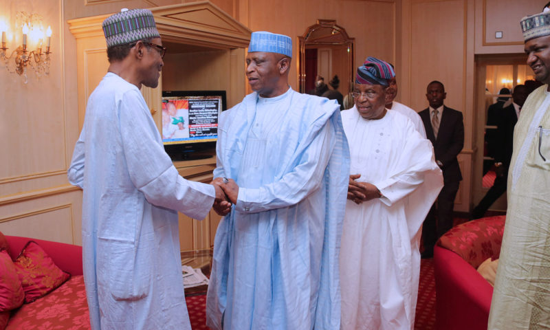PRESIDENT BUHARI DINNER WITH APC CHIEFTAINS AT HIS RESIDENCE IN ABUJA. JAN 18 2018
