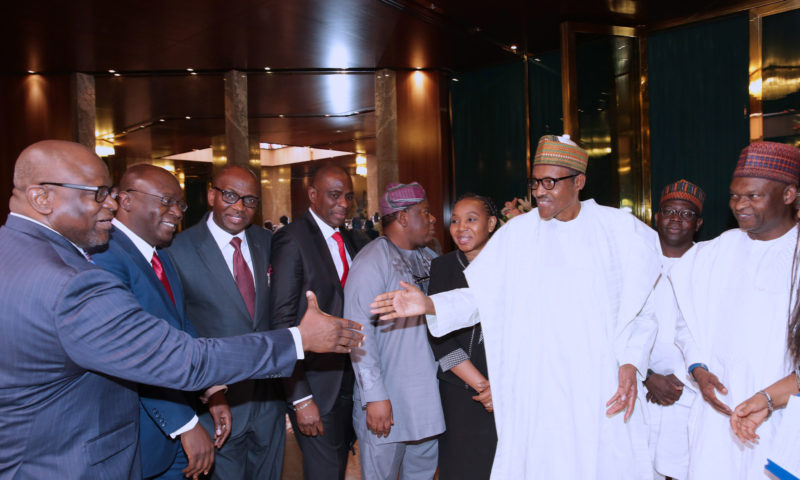 PRESIDENT BUHARI RECEIVES BOARD AND MAGE'MENT OF NESG. JAN 22 2018