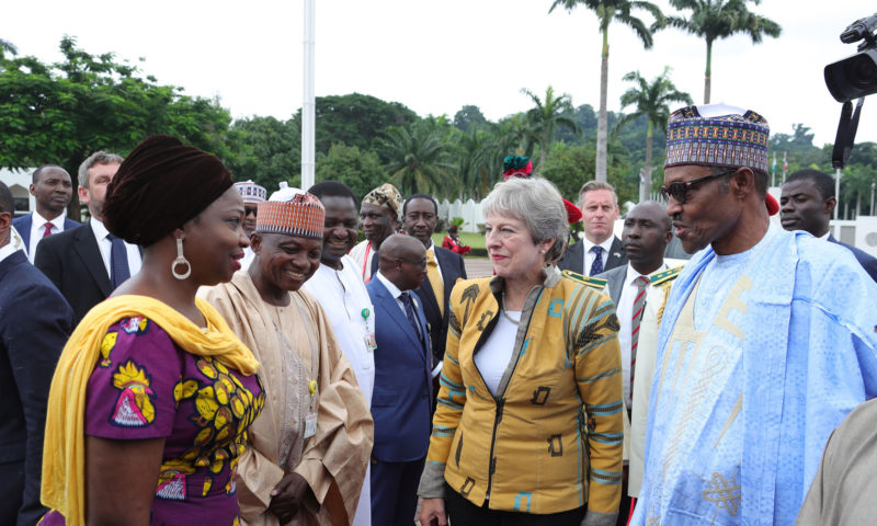 PRESIDENT BUHARI RECEIVES UK PM THERESA MAY