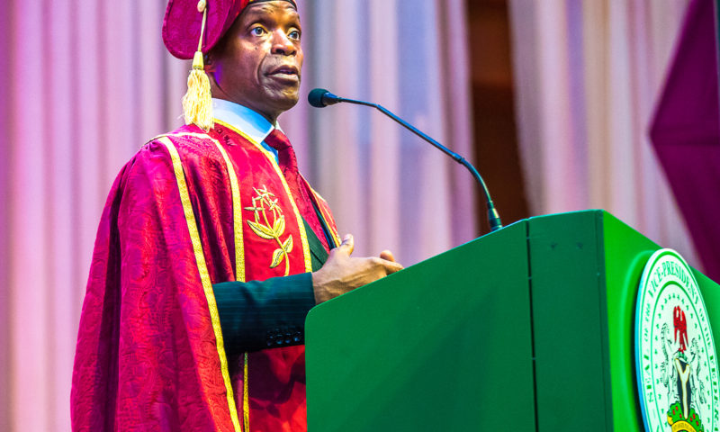 VP OSINBAJO DELIVERS THE CONVOCATION LECTURE TODAY AHEA