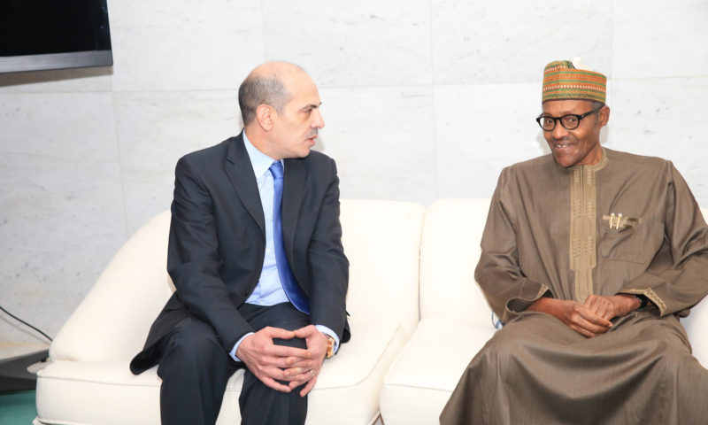 President Buhari arrives Amman., Jordan to take Part in the Annual Middle East and North Africa Conference (World Economic Conference #Mena19).