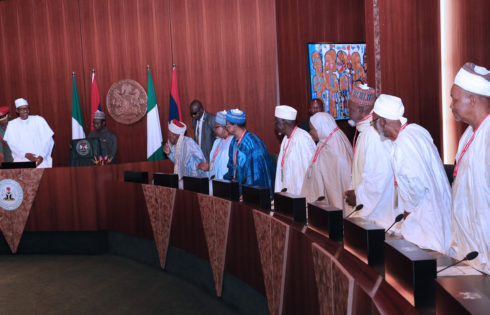 PRESIDENT BUHARI RECEIVES BOARD OF TRUSTEE AND ADVISORY COUNCIL