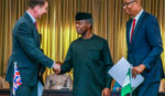 VP Osinbajo receives in audience UK delegation led by UK Foreign Secretary, Mr. Jeremy Hunt in Abuja. 30th, April 2019.