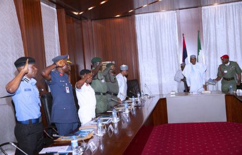 PRESIDENT BUHARI PRESIDES OVER SECURITY MEETING. MAY 9 2019