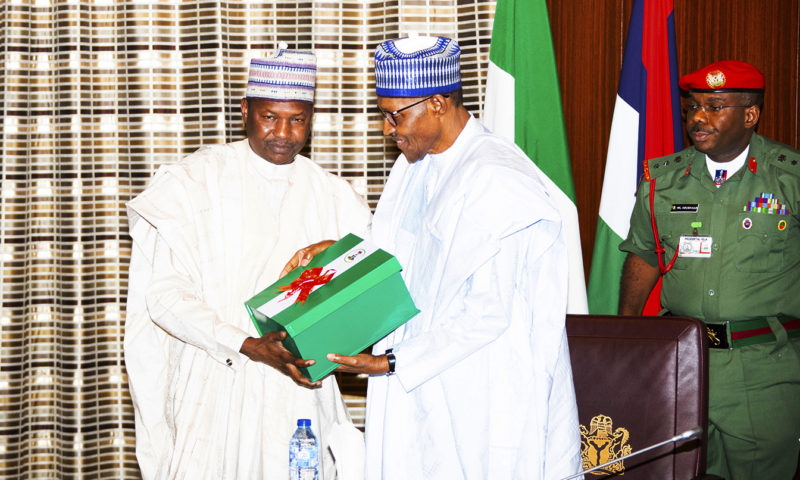 PRESIDENT BUHARI RECEIVES REPORT ON FINANCIAL AUTONOMY OF STATE LEGISLATIVE AND STATE JUDICIARY. JUNE 25 2019