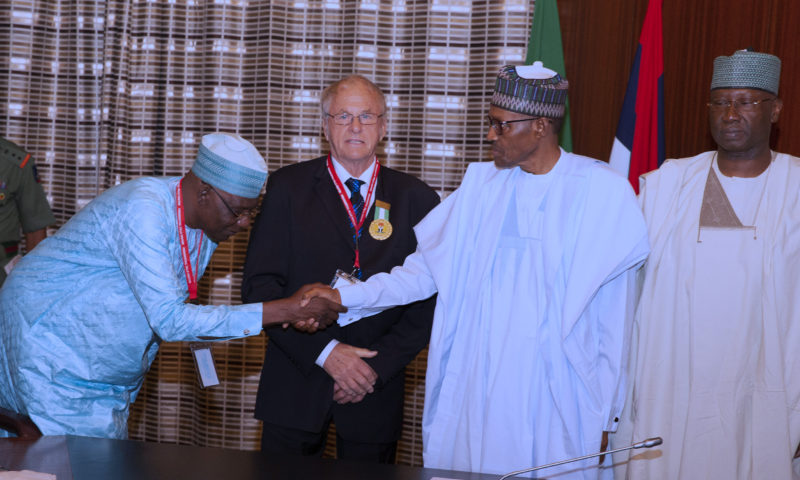PRESIDENT RECEIVES FOUNDER OF DANA AIR. JULY 3 2019