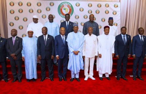 PRESIDENT BUHARI CHAIR 55TH SESSION OF ECOWAS HEADS OF STATE AND GOVERNMENT. JUNE 29 2019