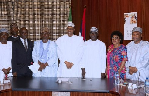 PRESIDENT BUHARI MEETS FRCN CHAIRMAN, BOARD OF DIRECTORS AND MAGT TEAM. JULY 19 2019