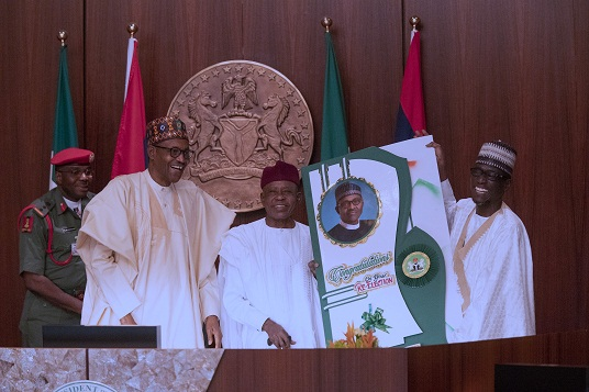 PRESIDENT BUHARI RECEIVES MEMBERS OF NORTH=EAST ALLIANCE FOR BUHARI 2019