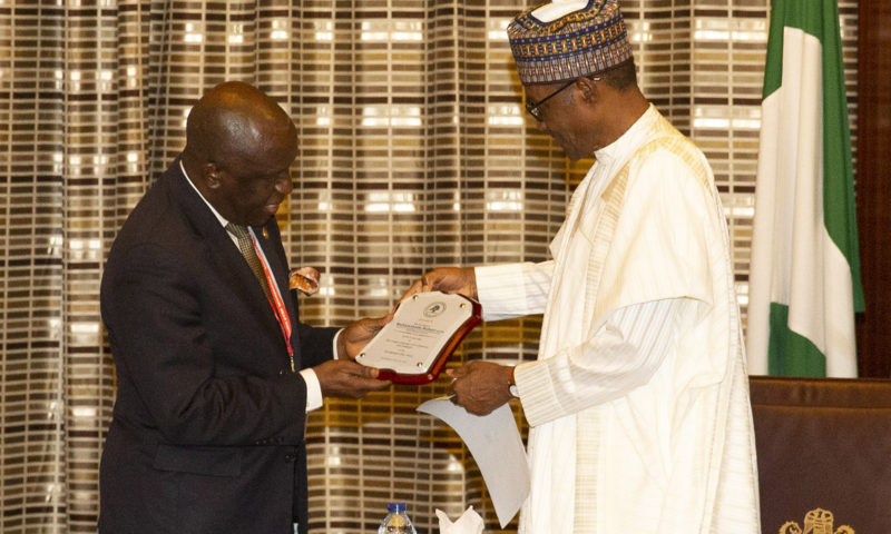PRESIDENT BUHARI RECEIVES LAGOS CHAMBERS OF COMMERCE AND IND