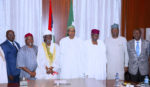PRESIDENT BUHARI IN A MEETING WITH MAJ-GEN MAMMAN RTD AND OT