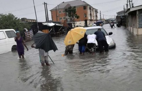 Lekki residents trapped by heavy rainfall