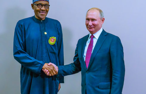 PRESIDENT BUHARI AND PUTIN IN BILATERAL AT THE RUSSIA-AFRICA
