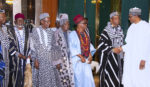 PRESIDENT BUHARI RECEIVES IN AUDIENCE BENUE TRADITIONAL RULE