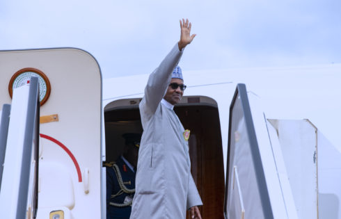 PRESIDENT BUHARI DEPARTS ABUJA FOR ECONOMIC FORUM OF FUTURE