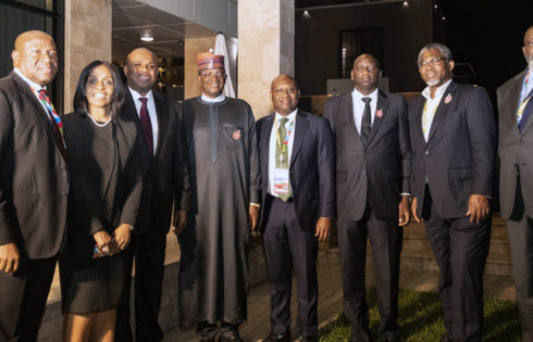 PRESIDENT BUHARI WITH AFREXIMBANK SIDELINE MEETING IN SOCHI, RUSSIA. OCT 25 2019