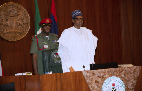 PRESIDENT MUHAMMADU BUHARI PRESIDES OVER EXTRA-ORDINARY FEC MEETING AT THE COUNCIL CHAMBERS, STATE HOUSE. PHOTO; SUNDAY AGHAEZE. OCT7 2019.