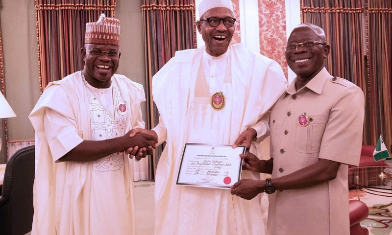 PRESIDENT BUHARI CONGRATULATES KOGI GOV YAHAYA BELLO ON HIS