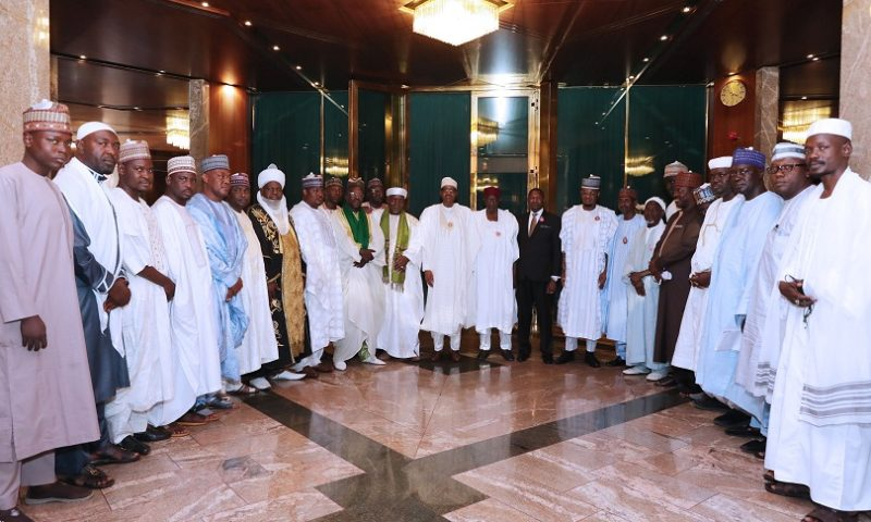 PRESIDENT BUHARI RECEIVES LEADERS OF THE TIJJANIYYA MOVEMENT. NOV 25 2019