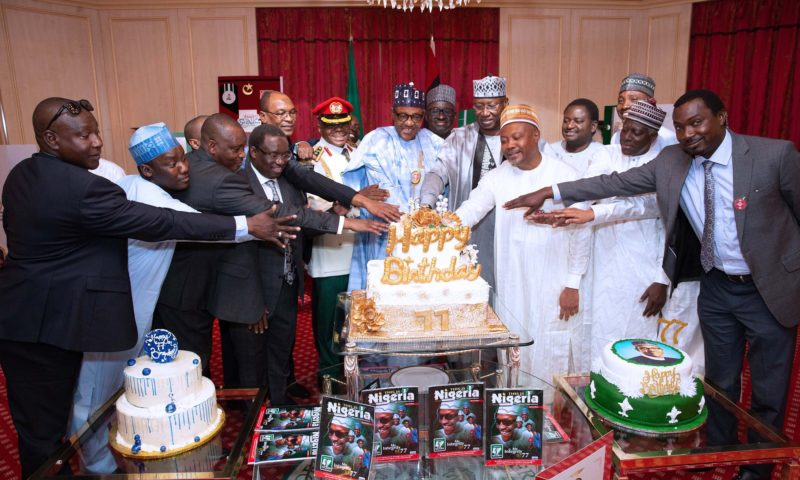 Buhari marks 77th birthday, aides celebrate