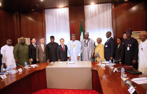 PRESIDENT BUHARI RECEIVES IN AUDIENCE PRESIDENT/CEO OF HYUNDAI ENGINEERING LTD. DEC 17 2019