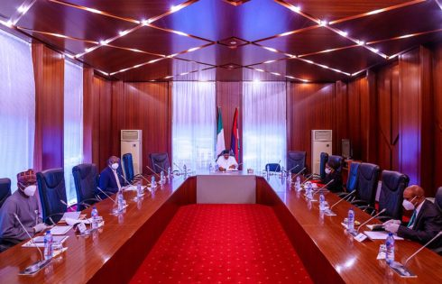 PRESIDENT BUHARI MEETS COVID-19 PRESIDENTIAL COMMITTEE