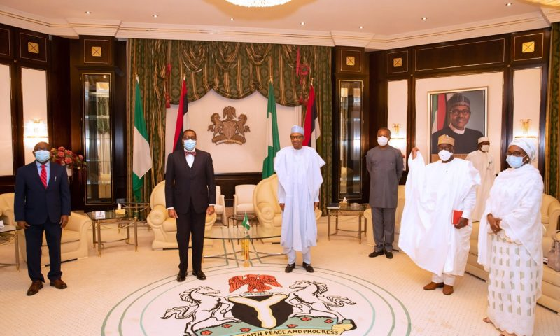 PRESIDENT BUHARI RECEIVES IN AUDIENCE PRESIDENT OF AfDB DR. ADESINA. JUNE 2 2020