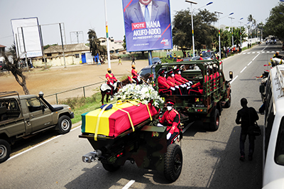 Ghana bids Rawlings farewell …as remains laid to rest
